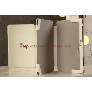"""Фирменный чехол для Samsung ATIV Smart PC XE500T1C белый с секцией под клавиатуру натуральная кожа """"Prestige"""" Италия"""
