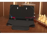 Фирменный чехол для Samsung ATIV Smart PC XE500T1C черный с секцией под клавиатуру кожаный..