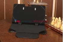 Фирменный чехол для Samsung ATIV Smart PC XE500T1C черный с секцией под клавиатуру кожаный
