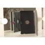 Фирменный чехол для Samsung Ativ Smart PC XE500T1C поворотный роторный черный кожаный