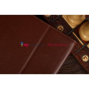 """Фирменный чехол-обложка для Samsung Ativ Smart PC XE500T1C коричневый натуральная кожа """"Prestige"""" Италия"""