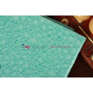 Фирменный чехол-обложка для Samsung Ativ Smart PC XE500T1C кожа крокодила голубой
