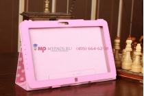 Чехол-обложка для Samsung Ativ Smart PC XE500T1C розово-белый далматинец