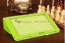 Фирменный чехол-футляр для Samsung Ativ Smart PC XE500T1C зеленый кожаный