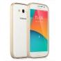 Фирменный оригинальный ультра-тонкий чехол-бампер для Samsung Galaxy Grand GT-i9082 золотой металлический..