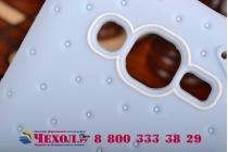 """Фирменная необычная уникальная полимерная мягкая задняя панель-чехол-накладка для Samsung Galaxy Grand Prime SM-G530H """"тематика Андроид в черничном шоколаде"""""""