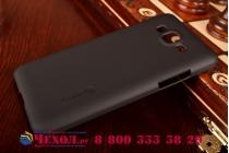 Фирменная задняя панель-крышка-накладка из тончайшего и прочного пластика для Samsung Galaxy Grand Prime SM-G530H черная