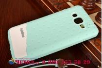 """Фирменная необычная уникальная полимерная мягкая задняя панель-чехол-накладка для Samsung Galaxy Grand Prime SM-G530H """"тематика Андроид в мятном шоколаде"""""""