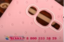 """Фирменная необычная уникальная полимерная мягкая задняя панель-чехол-накладка для Samsung Galaxy Grand Prime SM-G530H """"тематика Андроид в клубничном шоколаде"""""""