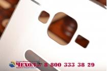 Фирменная металлическая задняя панель-крышка-накладка из тончайшего облегченного авиационного алюминия для Samsung Galaxy Grand Prime SM-G530H серебристая