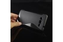 Фирменная ультра-тонкая полимерная из мягкого качественного силикона задняя панель-чехол-накладка для Samsung Galaxy Grand Prime SM-G530H черная