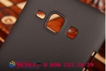 Фирменная задняя панель-крышка-накладка из тончайшего и прочного пластика для Samsung Galaxy J1 SM-J100H/F/DS черная
