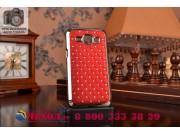 Фирменная роскошная задняя-панель-накладка декорированная кристалликами на Samsung Galaxy J1 SM-J100H/F/DS кра..