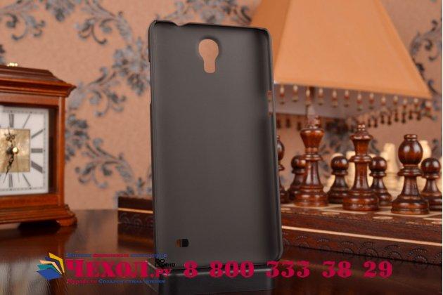 Фирменная задняя панель-крышка-накладка из тончайшего и прочного пластика для Samsung Galaxy Mega 2 / Mega 2 Duos SM-G750F/ G7508Q черная
