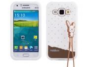 Фирменная необычная уникальная полимерная мягкая задняя панель-чехол-накладка для Samsung Galaxy J1 SM-J100H/F..