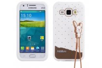 """Фирменная необычная уникальная полимерная мягкая задняя панель-чехол-накладка для Samsung Galaxy J1 SM-J100H/F/DS """"тематика Андроид в Белом Шоколаде"""""""