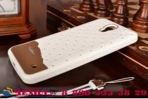 """Фирменная необычная уникальная полимерная мягкая задняя панель-чехол-накладка для Samsung Galaxy Mega 2 SM-G750F """"тематика Андроид в Белом Шоколаде"""""""