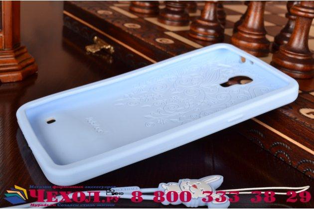 """Фирменная необычная уникальная полимерная мягкая задняя панель-чехол-накладка для Samsung Galaxy Mega 2 / Mega 2 Duos SM-G750F/ G7508Q """"тематика Андроид в черничном шоколаде"""""""