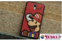 """Фирменная необычная уникальная полимерная мягкая задняя панель-чехол-накладка для Samsung Galaxy Mega 2 / Mega 2 Duos SM-G750F/ G7508Q """"тематика Super Mario"""""""
