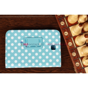 Чехол-обложка для Samsung Galaxy Note 8.0 N5100/N5110 бело-голубой далматинец