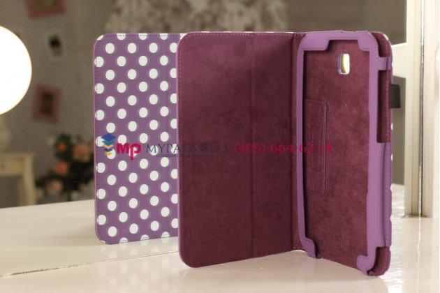Чехол-обложка для Samsung Galaxy Note 8.0 N5100/N5110 фиолетово-белый далматинец