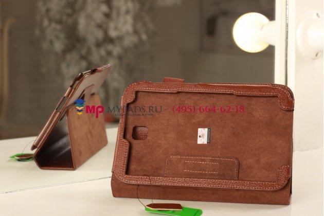 Чехол-обложка для Samsung Galaxy Note 8.0 N5100/N5110 коричневый кожаный