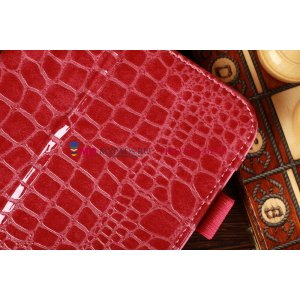 Лаковая блестящая кожа под крокодила фирменный чехол-обложка для Samsung Galaxy Note 8.0 N5100/N5110 цвет фуксии