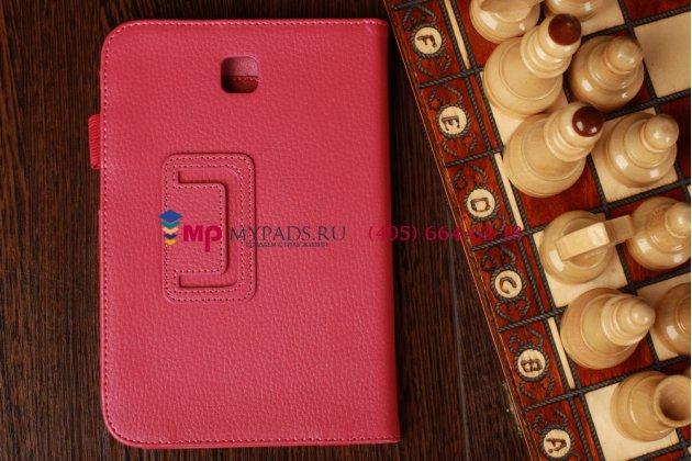 """Чехол-обложка для Samsung Galaxy Note 8.0 N5100/N5110 малиновый кожаный """"Prestige"""" Италия"""