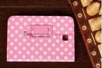 Чехол-обложка для Samsung Galaxy Note 8.0 N5100/N5110 розово-белый далматинец