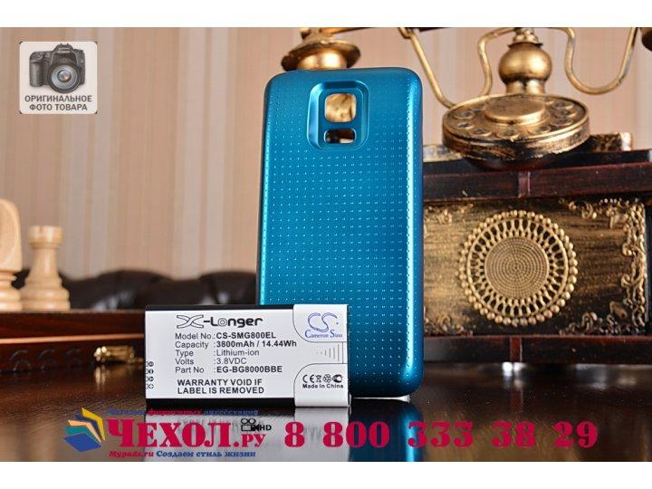 Усиленная батарея-аккумулятор большой повышенной ёмкости 3800mah для телефона Samsung GALAXY S5 mini + задняя ..