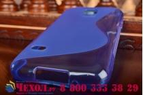Фирменная ультра-тонкая полимерная из мягкого качественного силикона задняя панель-чехол-накладка для Samsung Galaxy S5 mini синяя