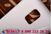 Фирменная ультра-тонкая полимерная из мягкого качественного силикона задняя панель-чехол-накладка для Samsung Galaxy S5 mini  белая