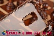 Фирменная задняя панель-крышка-накладка из тончайшего и прочного пластика для Samsung Galaxy S5 mini прозрачная