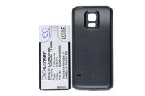 Усиленная батарея-аккумулятор большой ёмкости 3800mAh для телефона Samsung GALAXY S5 mini SM-G800F + задняя крышка в комплекте черная + гарантия