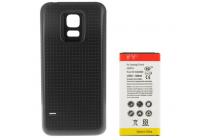 Усиленная батарея-аккумулятор большой ёмкости 6300mah для телефона Samsung GALAXY S5 mini + задняя крышка в комплекте черная + гарантия
