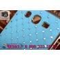 Фирменная роскошная задняя-панель-накладка декорированная кристалликами на Samsung Galaxy Grand GT-i9082 голуб..