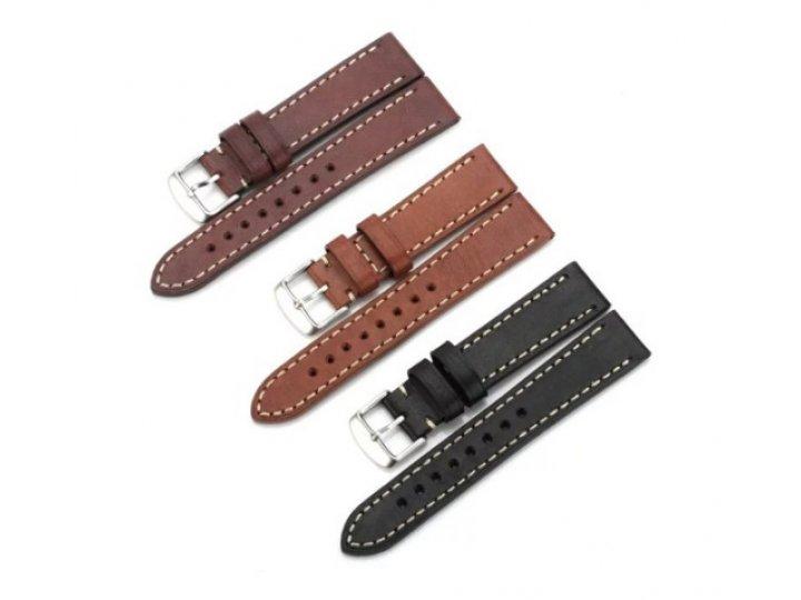 Фирменный сменный кожаный ремешок для умных смарт-часов Samsung Gear 2/Gear 2 Neo (SM-R380/SM-R381)/Gear Live ..