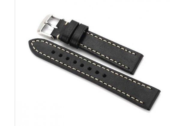 Фирменный сменный кожаный ремешок для умных смарт-часов Samsung Gear 2/Gear 2 Neo (SM-R380/SM-R381)/Gear Live R382 из качественной импортной кожи