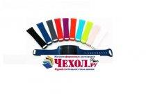 Фирменный необычный сменный силиконовый ремешок  для фитнес-браслета Samsung Gear Fit 2 R360 разноцветный Размер L - 24.5mm