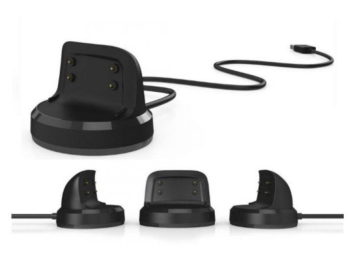 Фирменное оригинальное USB-зарядное устройство/док-станция для умных смарт-часов Samsung Gear Fit 2 R360 + гар..