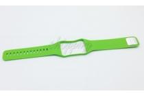 Фирменный необычный сменный силиконовый ремешок  для фитнес-браслета Samsung Gear S R750 разноцветный
