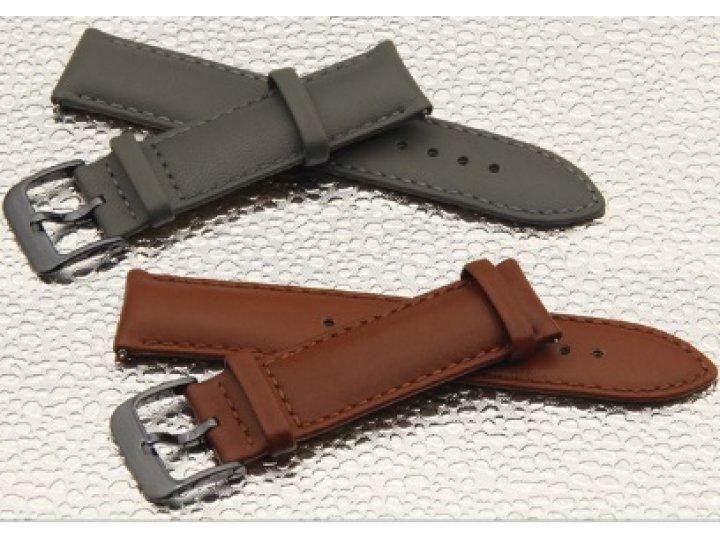 Фирменный сменный кожаный ремешок для умных смарт-часов Samsung Gear S2 Classic R7320/R730 из качественной имп..