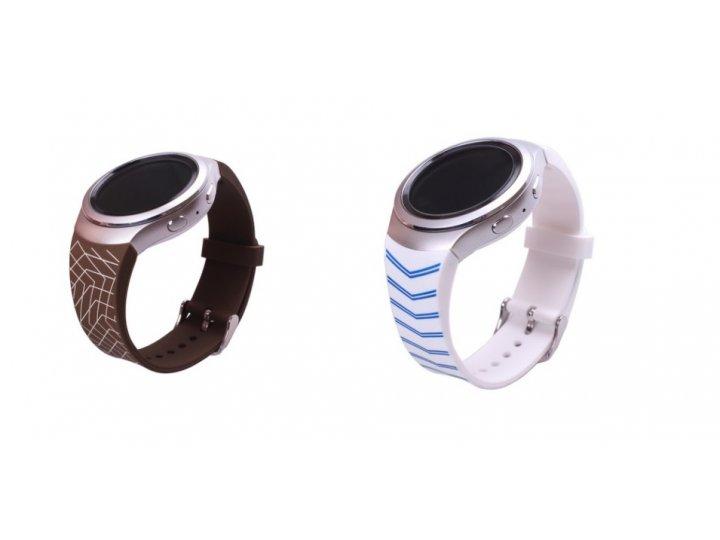 Фирменный необычный сменный силиконовый ремешок  для умных смарт-часов Samsung Gear S2 R720/Gear S2 Classic R7..