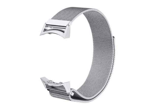 Фирменный сменный сетчатый плетёный миланский ремешок для умных смарт-часов Samsung Gear S2 R720/S2 Classic R7320/R730 из нержавеющей стали с магнитным замком-застежкой