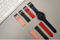Фирменный сменный кожаный ремешок для умных смарт-часов Samsung Gear S3 Classic / Frontier SM-R760 / R770 из качественной импортной кожи