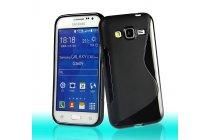 Фирменная ультра-тонкая полимерная из мягкого качественного силикона задняя панель-чехол-накладка для Samsung Galaxy Core Prime G360 черная
