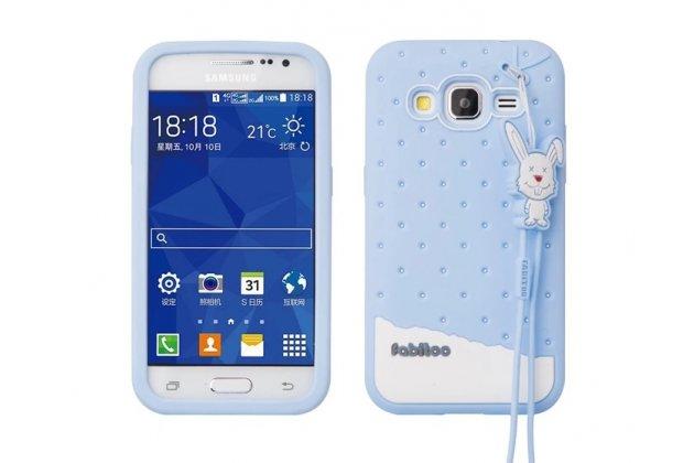 """Фирменная необычная уникальная полимерная мягкая задняя панель-чехол-накладка для Samsung Galaxy Core Prime G360 """"тематика Андроид в черничном шоколаде"""""""