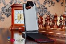 Фирменный оригинальный вертикальный откидной чехол-флип для Samsung Galaxy A5 LTE SM-A500F Dual sim черный кожаный