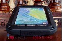 Неубиваемый водостойкий противоударный водонепроницаемый грязестойкий влагозащитный ударопрочный фирменный чехол-бампер для Samsung Galaxy A5 SM-A500F/H цельно-металлический со стеклом Gorilla Glass