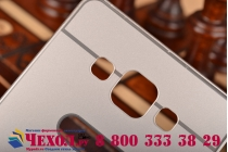 Фирменная металлическая задняя панель-крышка-накладка из тончайшего облегченного авиационного алюминия для Samsung Galaxy A5 SM-A500F/H серебристая
